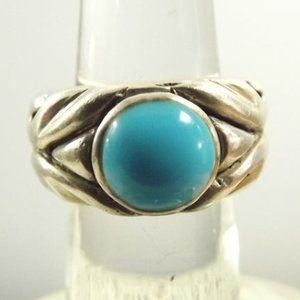 Jewelry - Heavy Sterling Silver Band and Turquoise Ring
